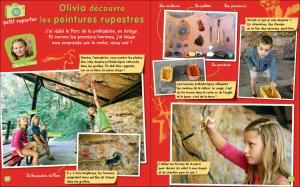 Olivia découvre les peintures rupestres