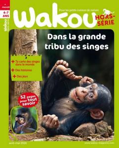 dans la grande tribu des singes Couverture Wakou hors serie avril 2016