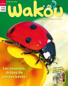 Les insectes drôle de petites bêtes Sommaire août Wakou 2016 n° 329