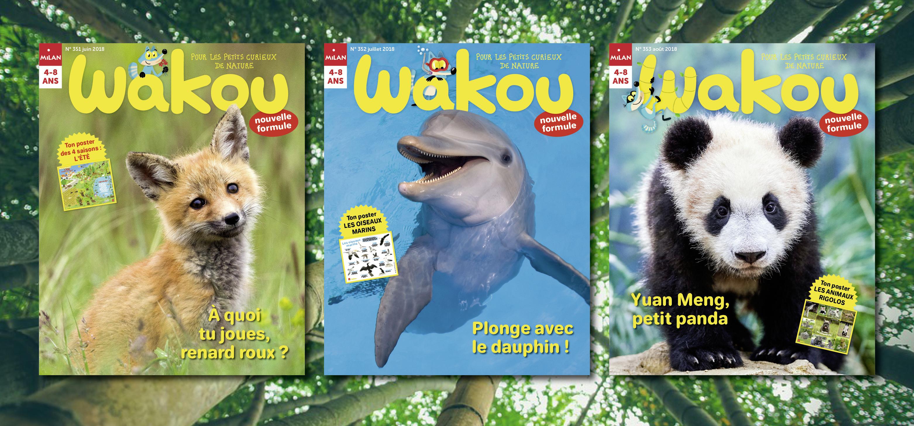 Couvertures de Wakou juin, juillet, août